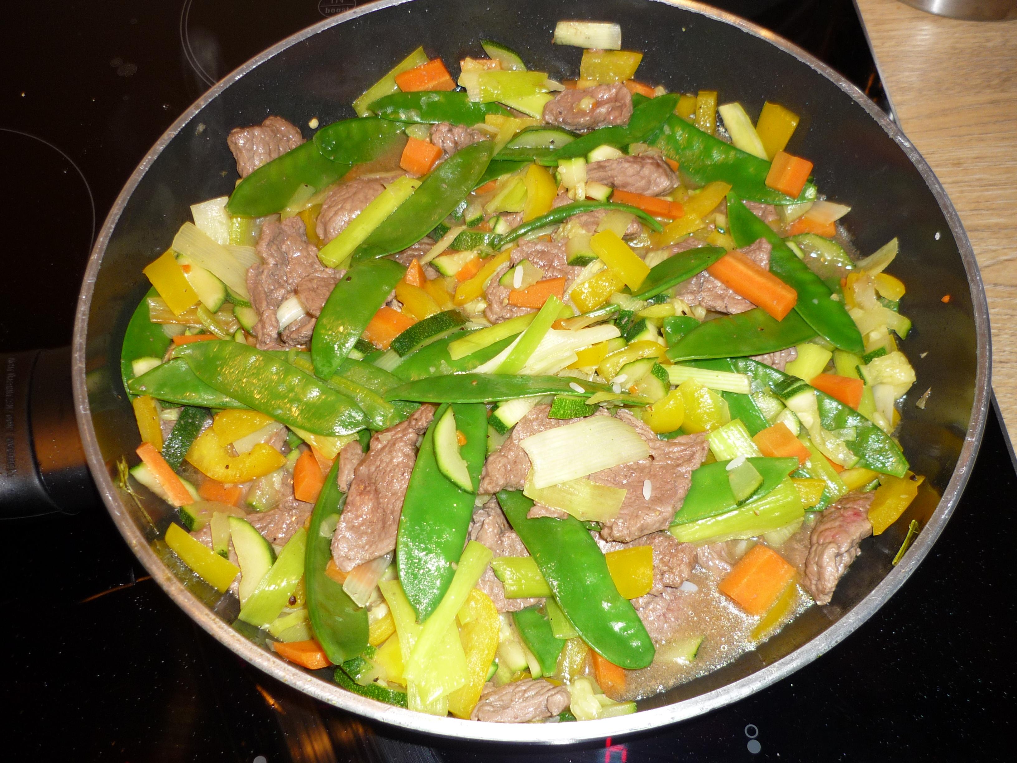 Rindfleisch mit Gemüse (ca. 2 Portionen)